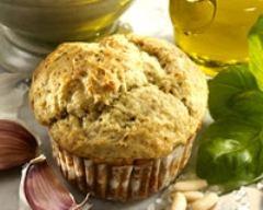 Recette muffins au parmesan-pesto et sa roquette