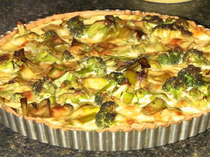 Recette de tarte aux poireaux et brocolis