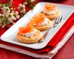 Recette toasts au saumon et fromage frais