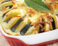 Recette gratin de pommes de terre et courgettes