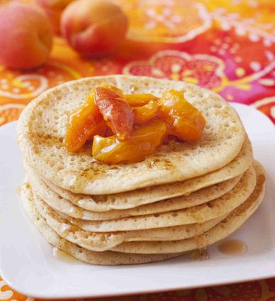Recette de pancakes à la fruitée intense abricot et poêlée d ...