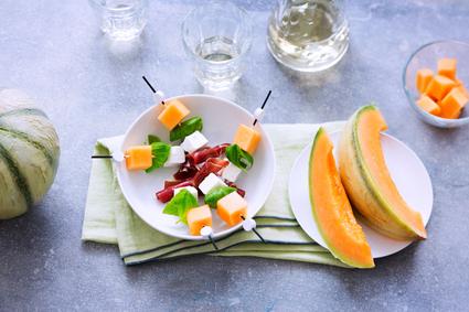 Recette de bouchées apéritives au melon de nos régions