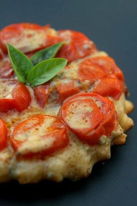 Recette de mini-tatin aux tomates-cerises et au roquefort