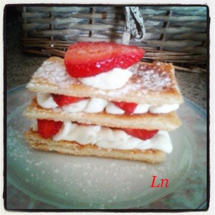 Recette de mille-feuille mousse de mascarpone vanille et fraises
