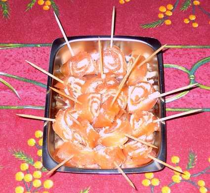 Recette de roulades de saumon fumé