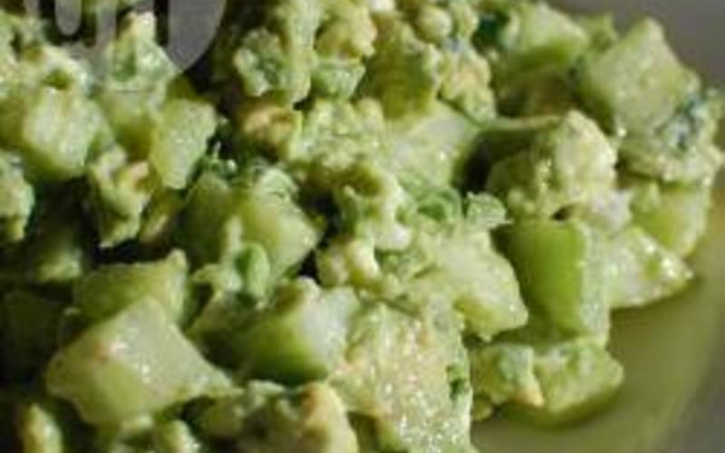 Recette salade avocat, concombre, chèvre frais pas chère et simple ...