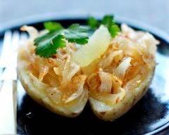 Recette pommes de terre et compotée d'oignons