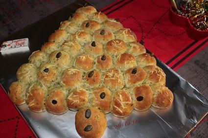 Recette de sapin de pains au roquefort et graines de courge