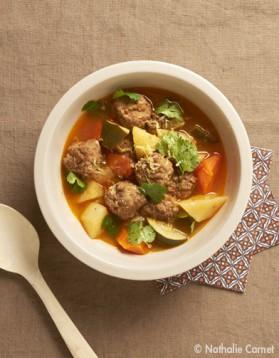L'exotique : soupe aux boulettes d'agneau pour 6 personnes ...