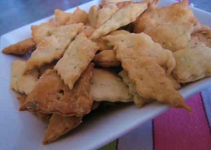 Recette de crackers parmesan et romarin