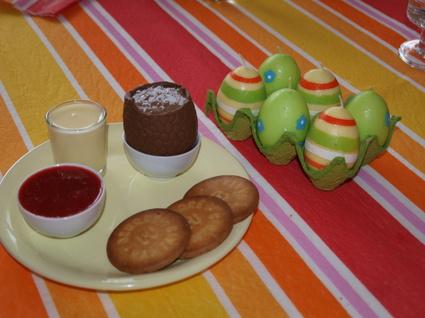 Recette oeufs de pâques au chocolat praliné