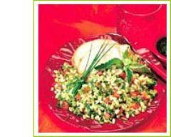 Recette salade d'ebly au porc et fines herbes