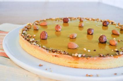 Recette de tarte au praliné croustillant et au caramel
