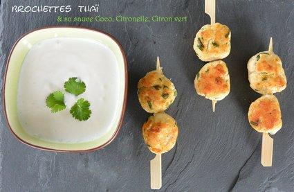 Recette de brochettes thaï et sauce coco citronnelle citron vert