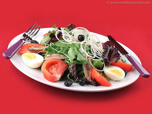 Salade niçoise  fiche recette illustrée  meilleurduchef.com
