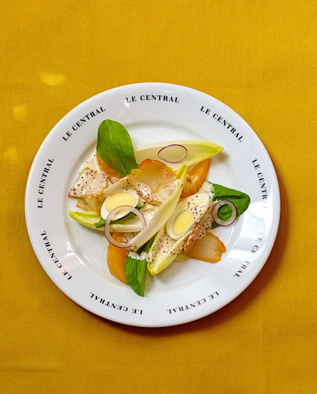 Salade d'oseille et d'endives au haddock pour 6 personnes ...