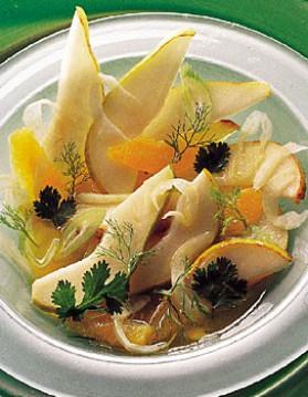 Salade poires fenouil pour 4 personnes