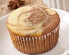 Recette muffins marbrés à la vanille et au chocolat