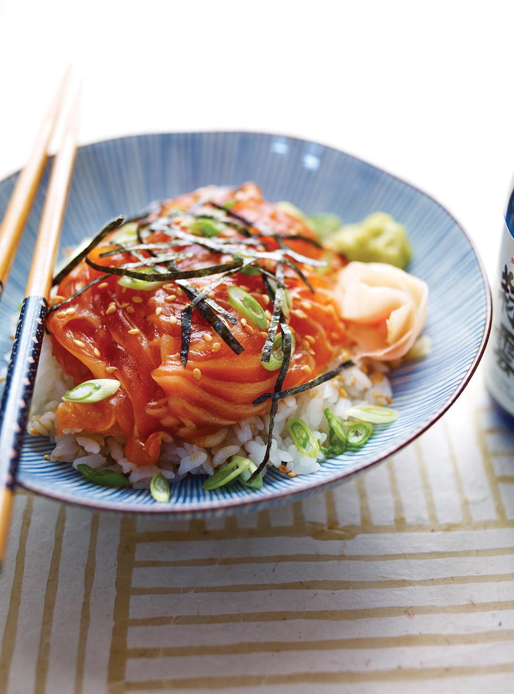 Sukimi don (bol de riz vinaigré et poisson cru) | ricardo