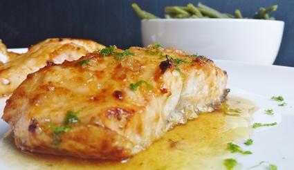 Recette de saumon glacé au miel et citron vert