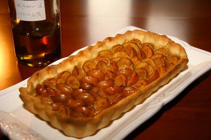 Recette de tarte aux mirabelles à l'eau-de-vie