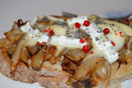 Recette de tartine d'endive au fromage