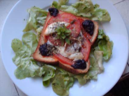 Recette de tartine provençale
