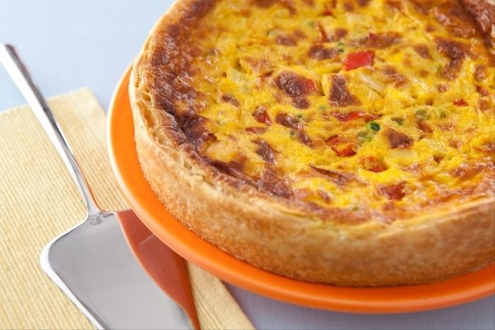 Recette de quiche au curry, poulet et ananas facile et rapide