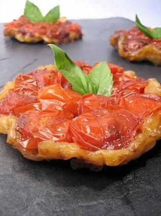 Recette de mini tatin de tomate au balsamique