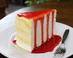 Recette gâteau de crêpes au citron et coulis de fraise