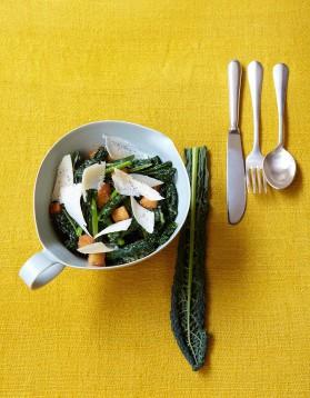 Salade caesar au kale pour 4 personnes