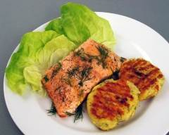 Recette saumon et croquettes à l'aneth