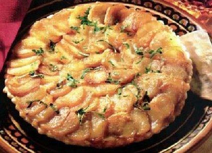 Recette de tarte normande au camembert