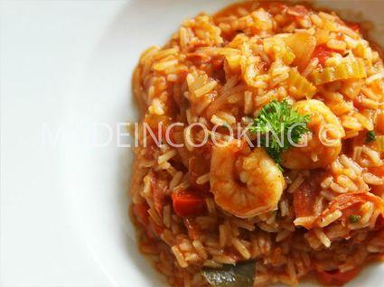 Recette de jambalaya aux crevettes et au chorizo