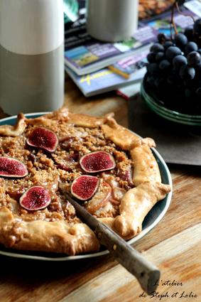 Recette de tarte façon « crumble » aux nectarines et figues