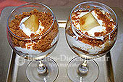 Recette de verrines de speculoos aux pommes et fromage blanc