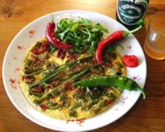 Recette omelette aux piments doux du pays basque