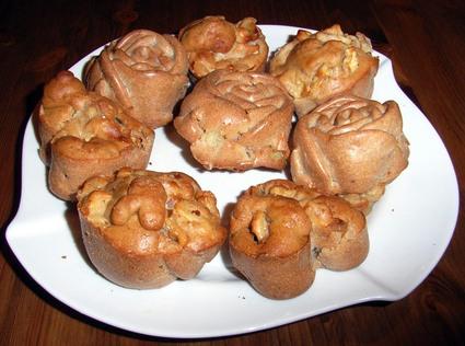 Recette de muffins pommes, noix et cannelle