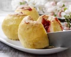 Recette pommes surprises à la gelée de fraise