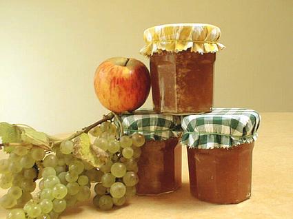 Recette de mi-confiture mi-gelée de pommes et raisin
