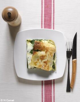 Lasagnes chèvre-épinards pour 6 personnes