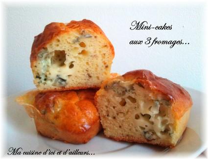 Recette de mini-cakes aux 3 fromages