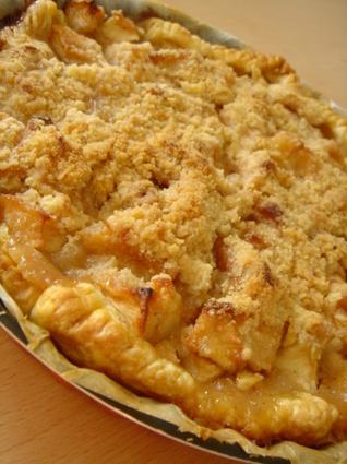 Recette de tarte aux pommes façon crumble