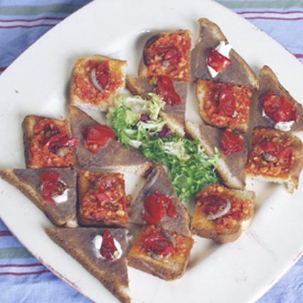 Recette de toasts anchois tomates
