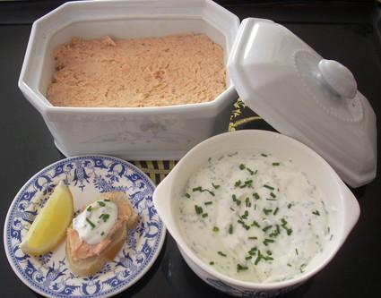 Recette de rillettes aux deux saumons, cognac et vin blanc