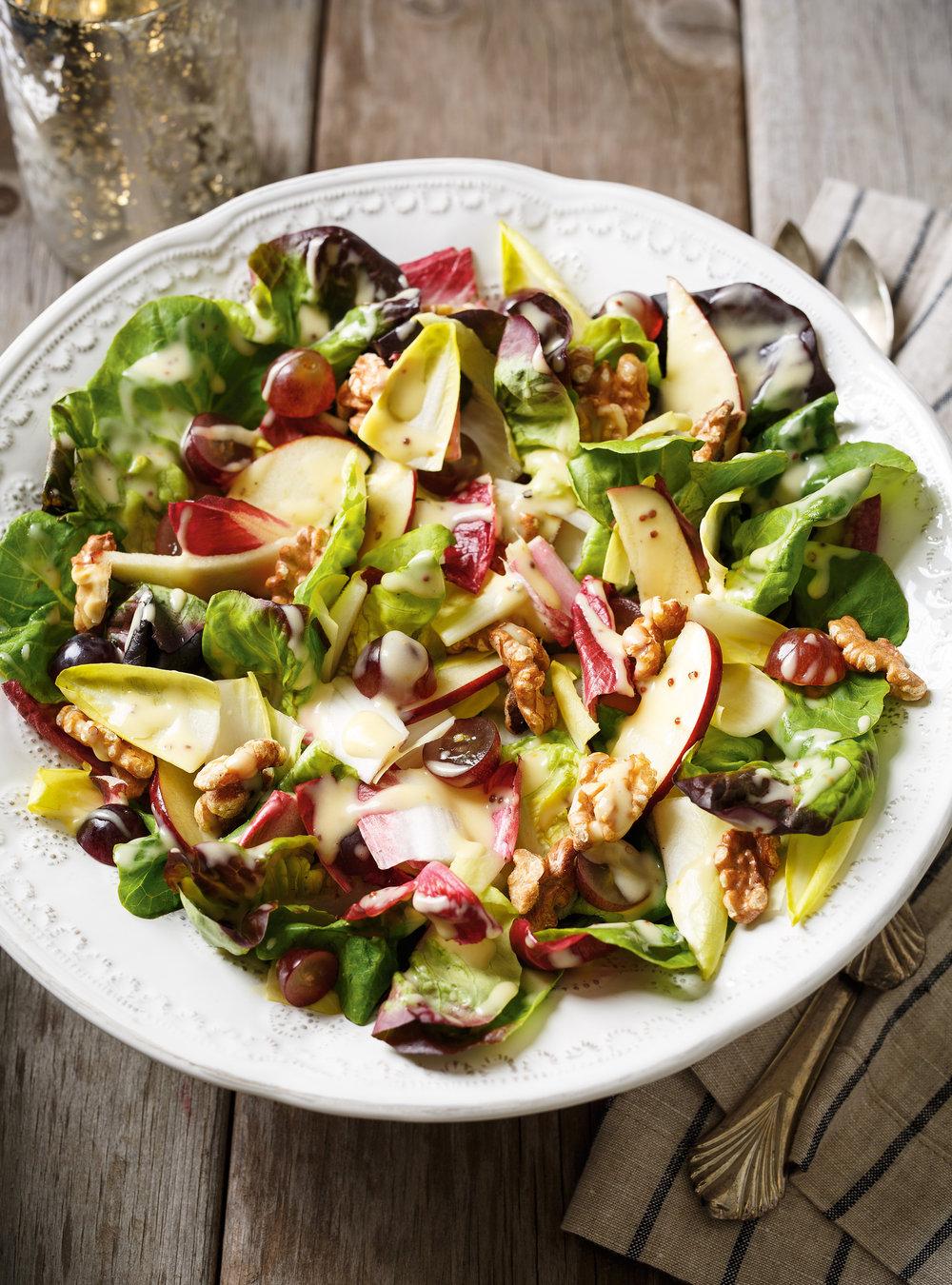 Salade d'endives et de laitue boston | ricardo