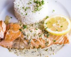Pavé de saumon à l'estragon   cuisine az