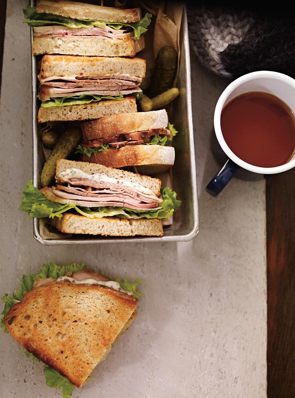 Sandwichs au rôti de porc froid | ricardo