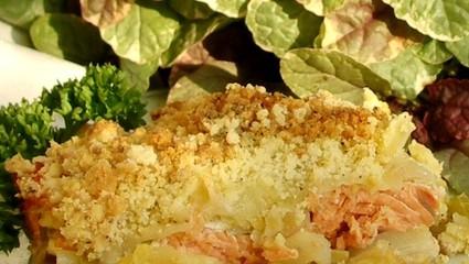 Recette de crumble au saumon au parmesan