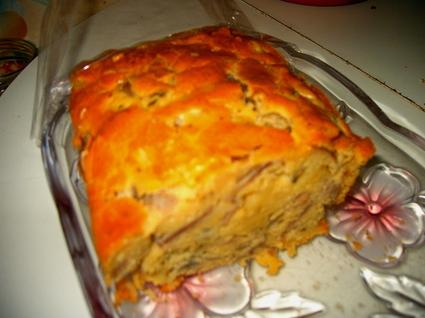 Recette de cake au jambon, champignons et gruyère